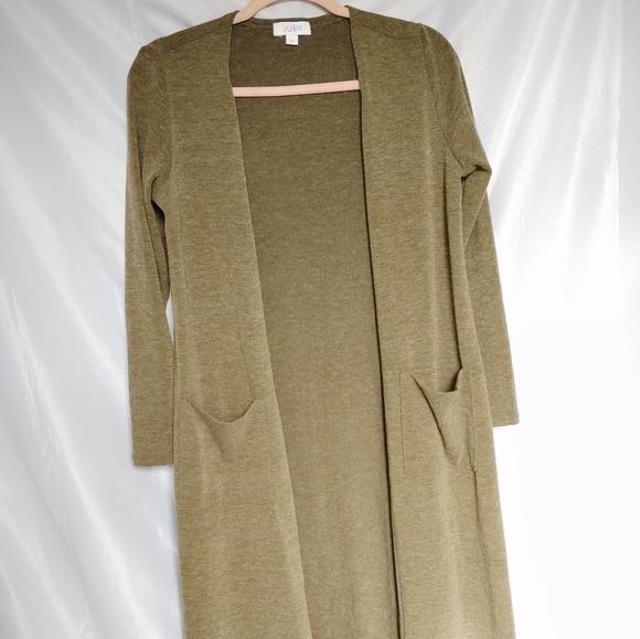 LulaRoe Olive Green Duster Long Cardigan Sweater